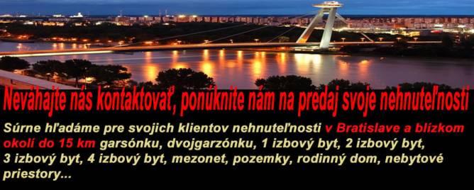 Bratislava - Ružinov Two bedroom apartment Buy reality Bratislava - Ružinov