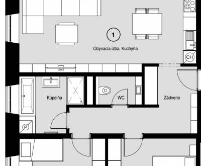 Two bedroom apartment, Sale, Piešťany, Slovakia